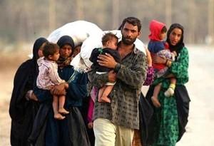 An Iraqi refugee family