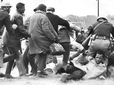 Another shot of John Lewis during the Selma to Montgomery march.