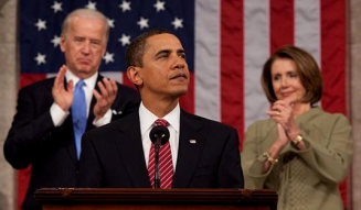 President Barack Obama addresses joint session of Congress, Feb. 24, 2009.