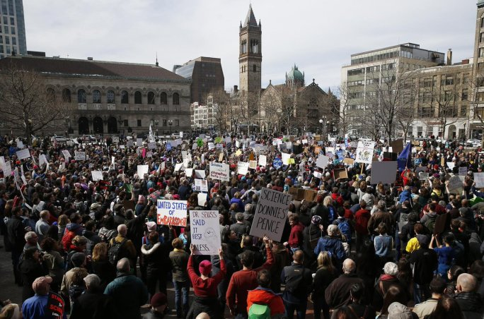 Stand Up for Science Rally in Boston, Feb. 17, 2017