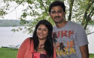 Srinivas Kuchibhotla with wife Sunayana Dumala. Source: Sunayana Dumala/Facebook