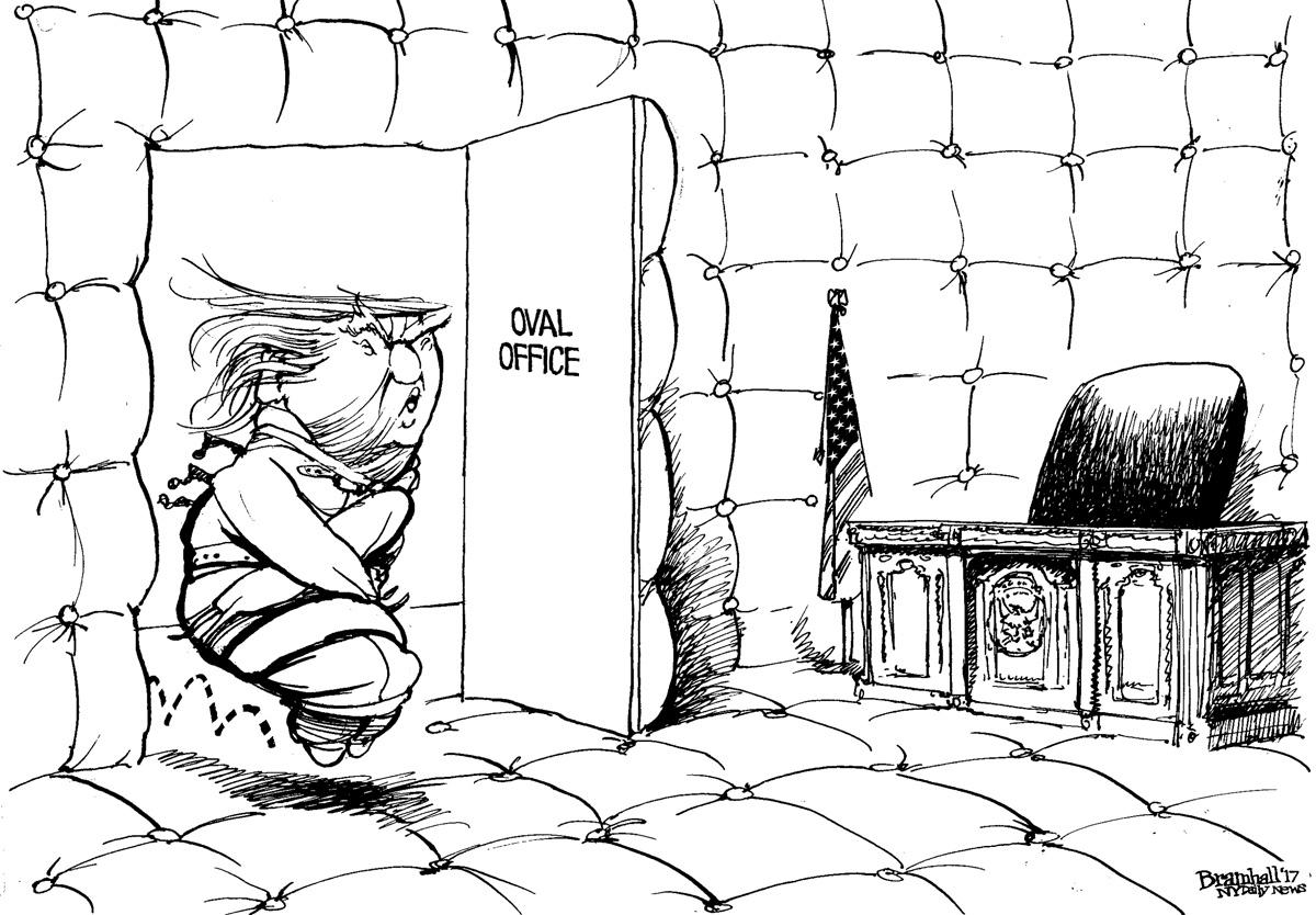 Image result for trump straight jacket cartoon