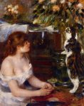 Pierre Auguste Renoir, Girl and Cat1880-81