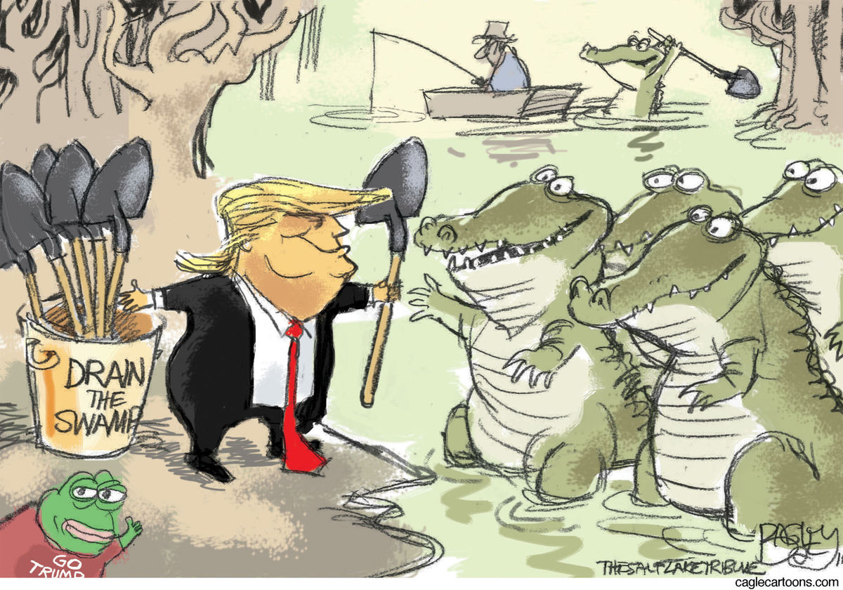 Image result for trump fills the swamp