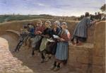 Breton Children Reading Emile Vernon c,1913