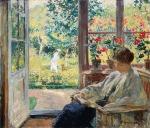 Woman Reading by a Window Gari Melchers – circa1905