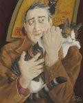 'Company' by English painter & illustrator Ophelia Redpath(b.1965)