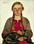 Girl with Cat Lotte Laserstein, 1898-1993, was a German-Swedish painter and portraitist