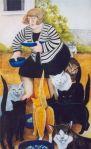 Beryl-Cook-Cat-Lady-Feeding-the-Cats
