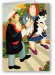 Beryl Cook, The Milk Man and Woman withCat