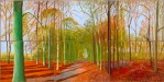 David Hockney, Woldgate Woods, 2008, privatecollection