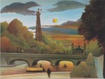 Henri Rousseau, Eiffel Tower at Sunset, 1910, privatecollection