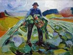 Man in a cabbage field, 1916, EdvardMunch