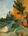 Paul Gauguin, Landscape in Arles near the Alyscamps, 1888, Muséed'Orsay