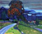 Wassily Kandinsky, Autumn in Murnau, 1908, privatecollection
