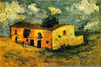 Country House, 1893, Pablo Picasso (signed P. Ruiz)