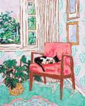 Cat Nap – A Pink Chair by the Window, LaraMeintjes