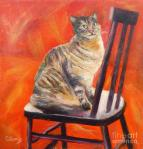 Cat on Black Chair, CarolynJarvis