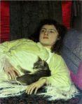 Girl with a Cat – 1837-87,Ivan NikolaevichKramskoi