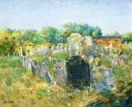 Colonial Graveyard at Lexington, (MA) Frederick ChildeHassam
