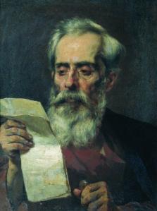 The old man reading a letter - Fyodor Bronnikov