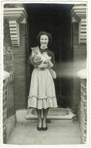 An English Woman and her cat