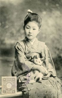 Bijin with a Kitten 1907