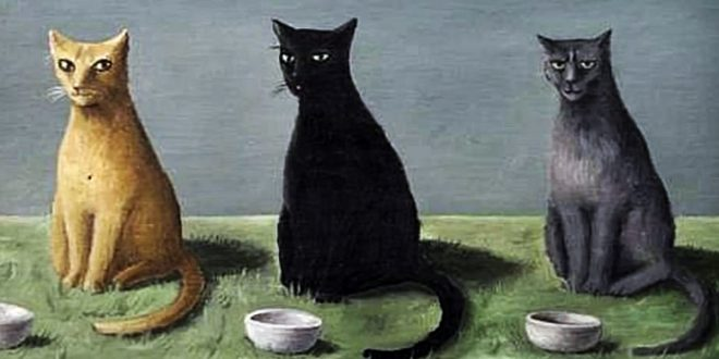 Three-Cats-with-Bowls-of-Milk-Gertrude-Abercrombie