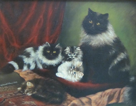 A-Feline-Family-Agnes-Augusta-Talboys-private-collection