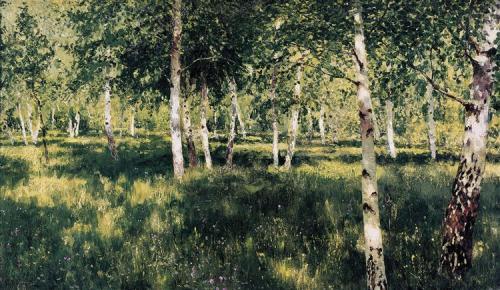 Birch Grove, Isaac Levitan, 1885=89