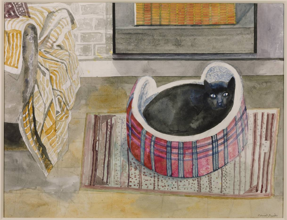 Emma Nelson by the Fire 1987 by Edward Bawden 1903-1989