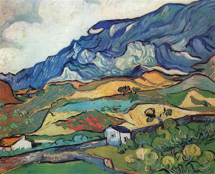 Les Alpilles, Mountain Landscape near South-Reme, Vincent Van Gogh,