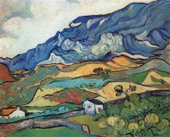 Les Alpilles, Mountain Landscape near South-Reme, Vincent Van Gogh,
