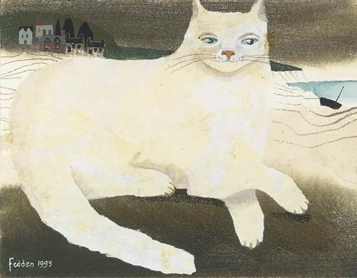 Mary Fedden, Cat along the shore