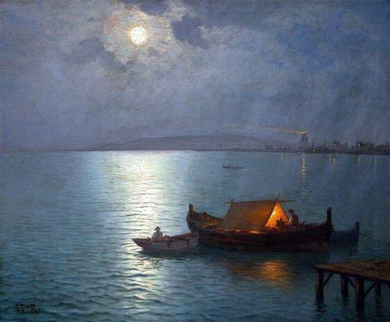 Nightfall, by Guillermo Gómez Gil, 1900