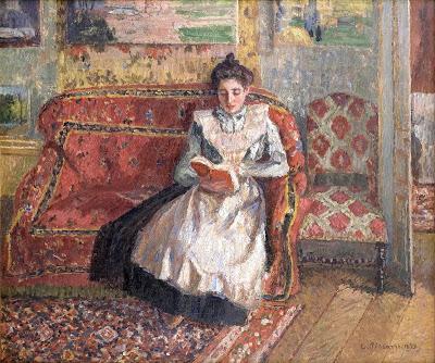 Pissarro, Camille (1830-1903) Jeanne Pissarro reading, 1899
