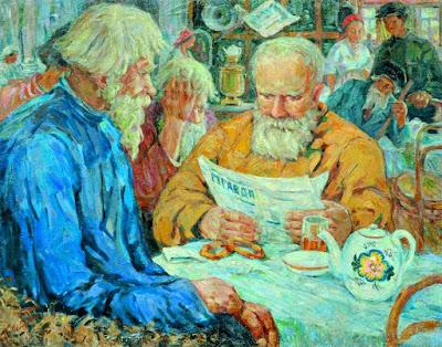 Porfiry Lebedev, Morning News, 1950s