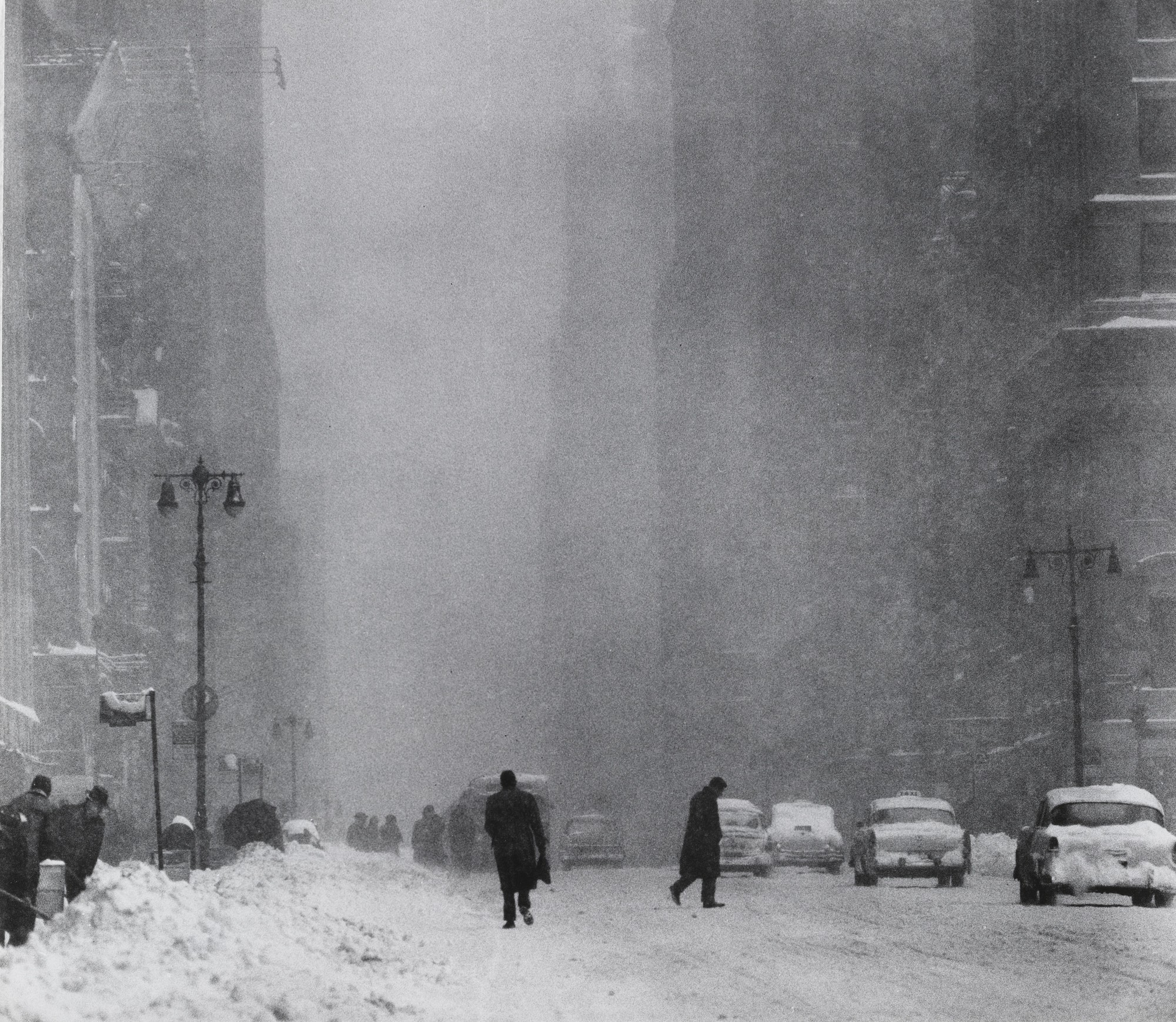 Big snow, 42nd St. NYC, 1956