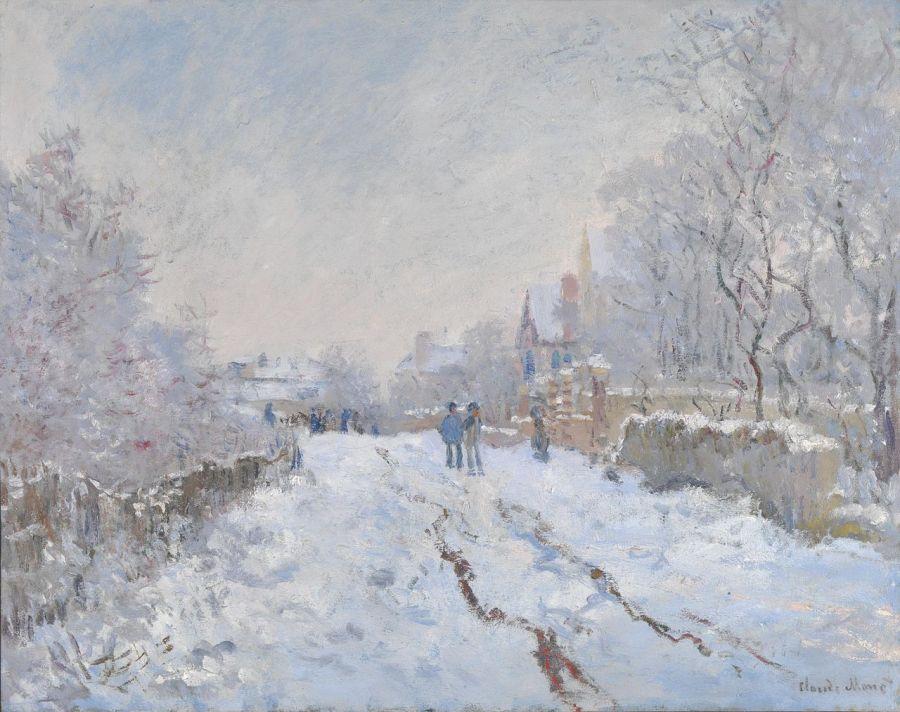 Claude Monet, Snow Scene at Argenteuil, 1875