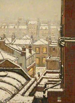 Turner, Martin William, 1940-2006; Houses and Roofs in the Snow