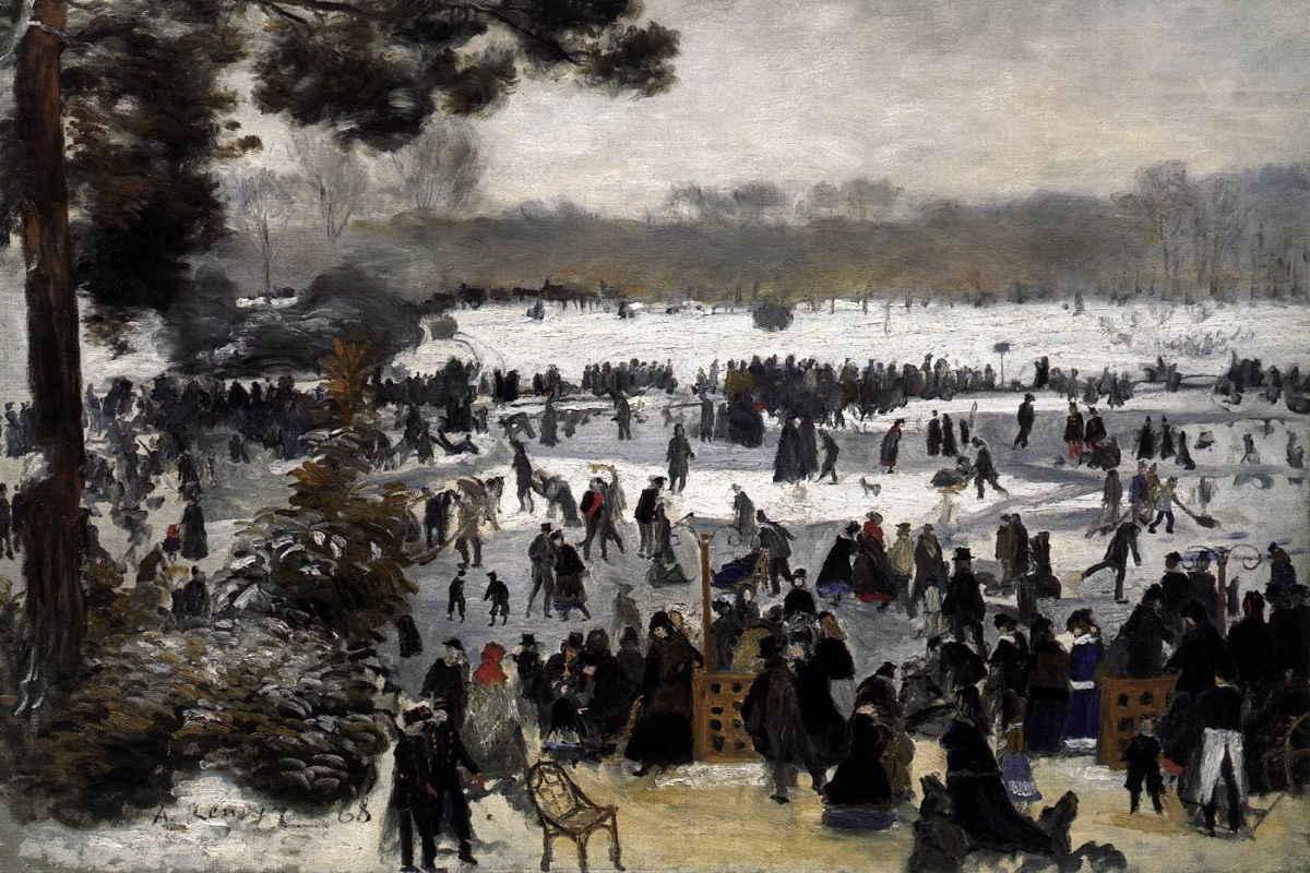 Pierre-Auguste Renoir - Skaters in the Bois de Boulogne