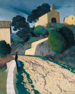 Road at St Paul (Var) 1922 by F?lix Vallotton 1865-1925