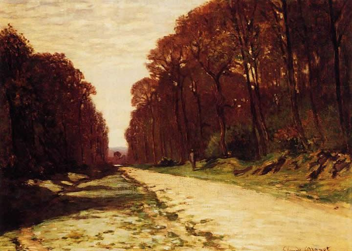 Road in a Forest, Claude Monet