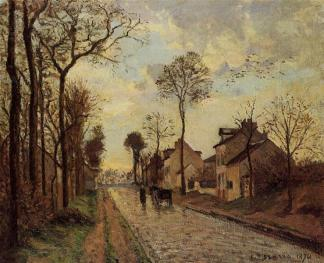 the-louveciennes-road, Camille Pissarro