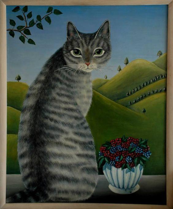 Big Grey Cat, by Elsa Jacob Moosbrugger