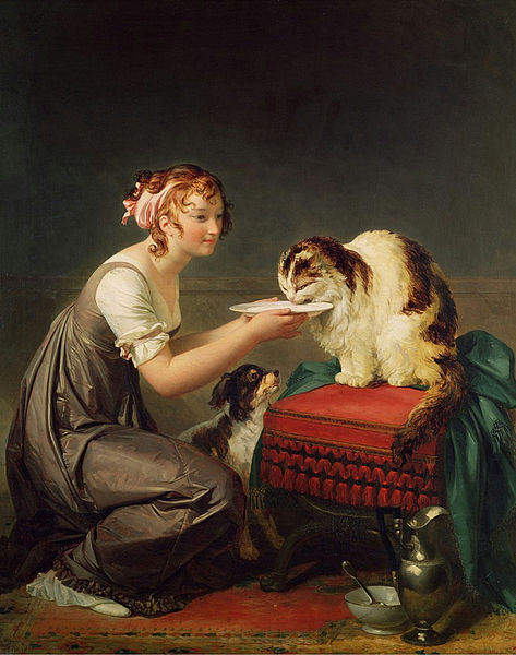 The cat's lunch, Marguerite Gerard