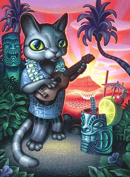 Tiki Cat by Brad Parker