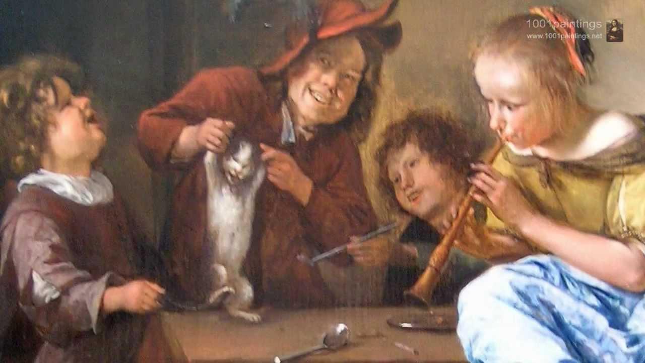 Jan Steen, Children teaching a cat to dance