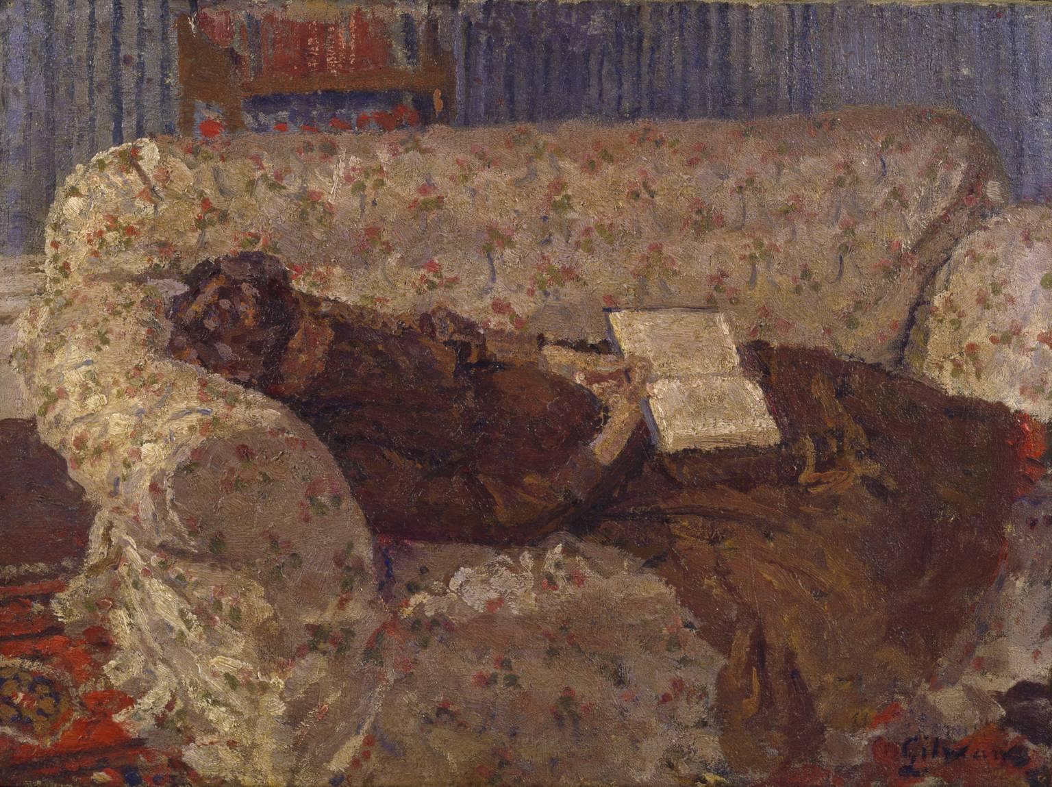Lady on a Sofa, Harold Gilman, c 1910