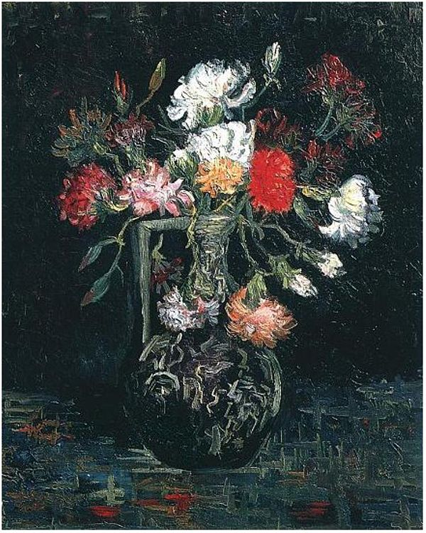 Vase with White and Red Carnations, 1886